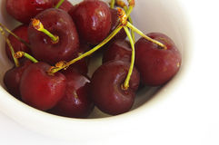 Cherry bowl Royalty Free Stock Images