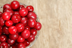 Cherry in a bowl closeup Stock Photos