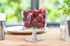 Cherry in bowl Stock Photography