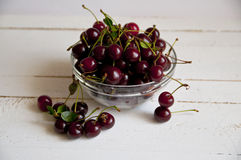 Cherry. A bowl of freshly collected cherry Royalty Free Stock Images