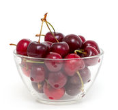 Cherry in a bowl Stock Photos