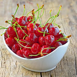 Cherry bowl shoot in studio Royalty Free Stock Images