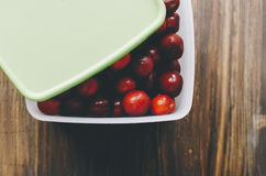 Cherry In Box Stock Photo