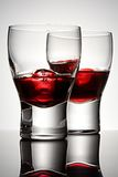 Cherry brandy with ice royalty free stock image