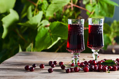Cherry brandy Royalty Free Stock Images