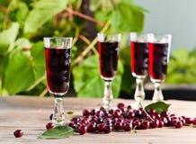 Cherry brandy Royalty Free Stock Photo