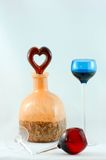Cherry brandy for two Royalty Free Stock Photos
