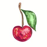 Cherry brilliant. Cristal emblem in shape of brilliant cherry Royalty Free Stock Photography