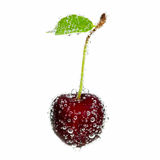 Cherry in bubbles Royalty Free Stock Image