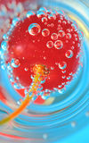 Cherry and bubbles Stock Photo