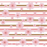 Cherry buds decorative pattern Stock Photography