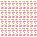 Cherry bunch pattern design Stock Images