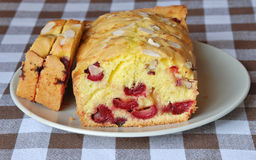 Cherry cake. A delicious cake with cherry Stock Image