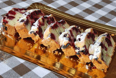 Cherry cake. A delicious cake with cherry Royalty Free Stock Photography