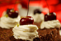 Cherry cake royalty free stock photo
