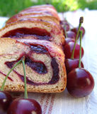 Cherry cake. Cake with cherry Royalty Free Stock Photos