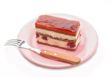 Cherry cake and cherry Royalty Free Stock Photography