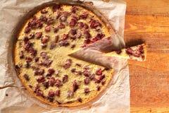 Cherry Cake Clafoutis Immagini Stock Libere da Diritti