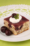 Cherry cake with jelly Stock Photo