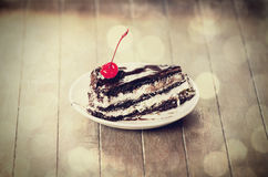 Cherry cake. Royalty Free Stock Photography