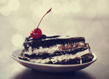 Cherry cake. Royalty Free Stock Images