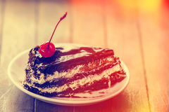 Cherry cake. Royalty Free Stock Image