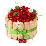Cherry cake Stock Images