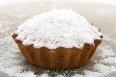 Cherry cake with sugar powder Royalty Free Stock Photo
