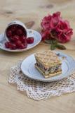 Cherry cake. With vanilla cream Royalty Free Stock Image