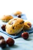 Cherry cakes Stock Photography