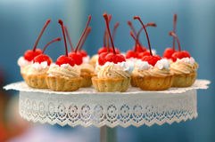 Cherry cakes Stock Image
