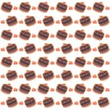 Cherry Cakes Seamless Pattern Royalty-vrije Illustratie