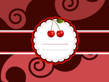 Cherry card Stock Images