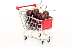 Cherry in a cart Stock Photo