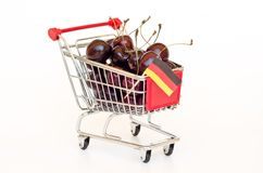 Cherry in a cart Stock Image