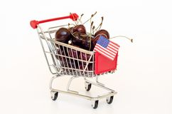 Cherry in a cart Royalty Free Stock Photo