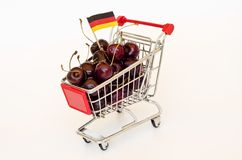 Cherry in a cart Royalty Free Stock Photos