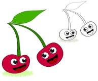 Cherry cartoon Stock Photos