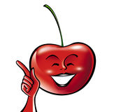 Cherry cartoon Royalty Free Stock Photography