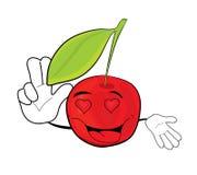Cherry cartoon character Royalty Free Stock Photography