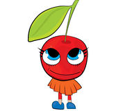 Cherry cartoon character Stock Images