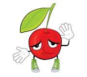 Cherry cartoon character Royalty Free Stock Photos