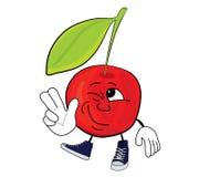 Cherry cartoon character Royalty Free Stock Image