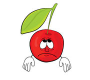 Cherry cartoon character Royalty Free Stock Images