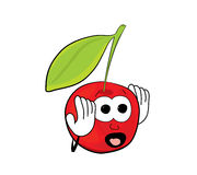 Cherry cartoon character Stock Image