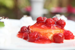 Cherry cheese cake Royalty Free Stock Photography