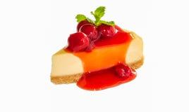 Cherry Cheese Cake Fotografia de Stock Royalty Free