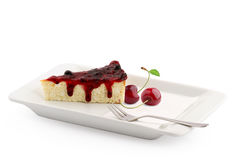 Cherry Cheese Cake Lizenzfreies Stockfoto