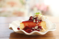Cherry cheese cake Royalty Free Stock Images