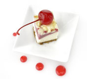 Cherry Cheesecake Stock Photos